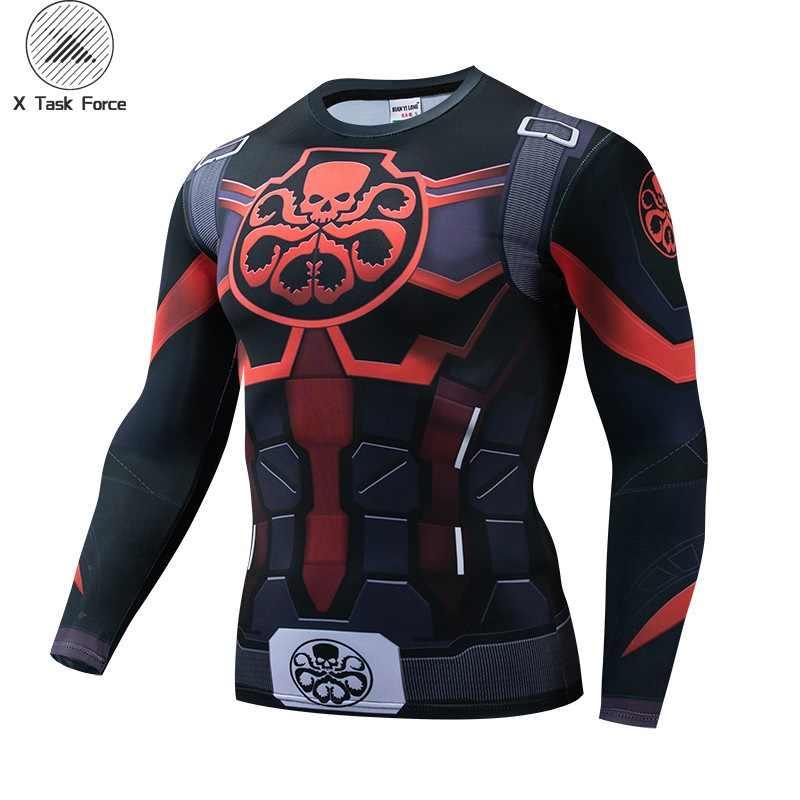 Hydra Капитан Америка 3D печатных футболки для мужчин Мстители 4 эндигра Квантовая война сжатия рубашка костюм косплей топы для мужчин