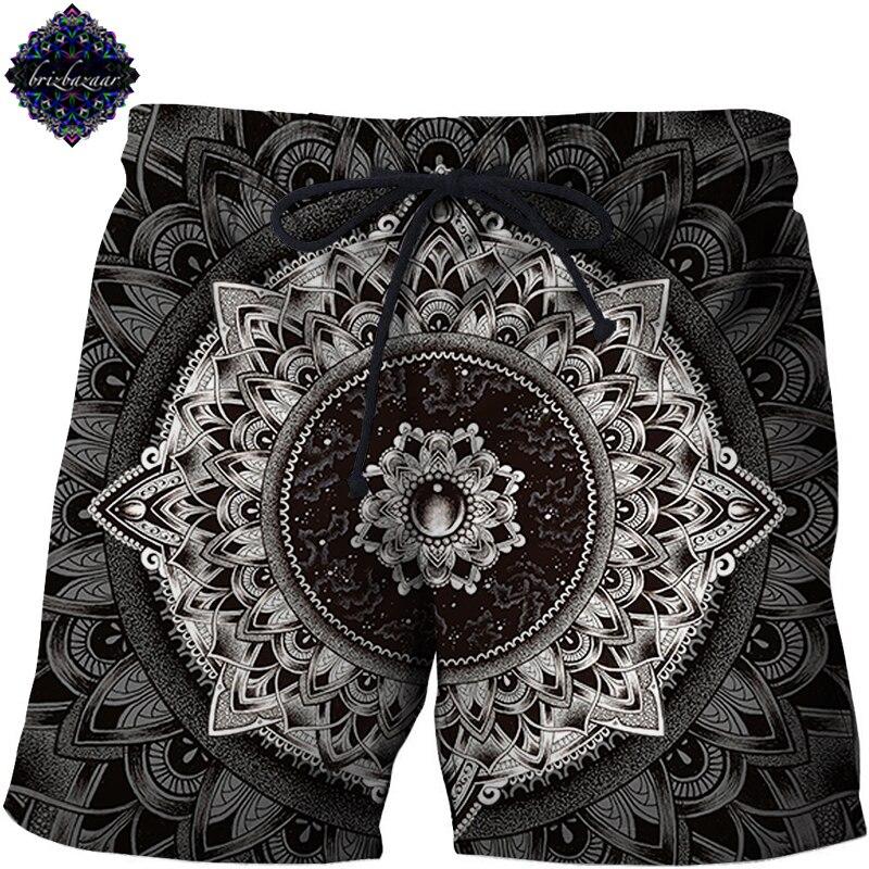 Mandala By Brizbazaar Art Funny Beach Shorts Masculino Men Short Plage Printed Board Shorts Anime Pant Quick Dry Pant Streetwear