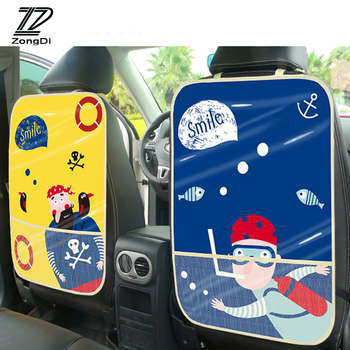 ZD For Mercedes W203 W211 W204 W210 Benz BMW F10 E34 E30 F20 X5 E70 Car Styling Children Kick Mat Seat Back Protector Cover Bag image
