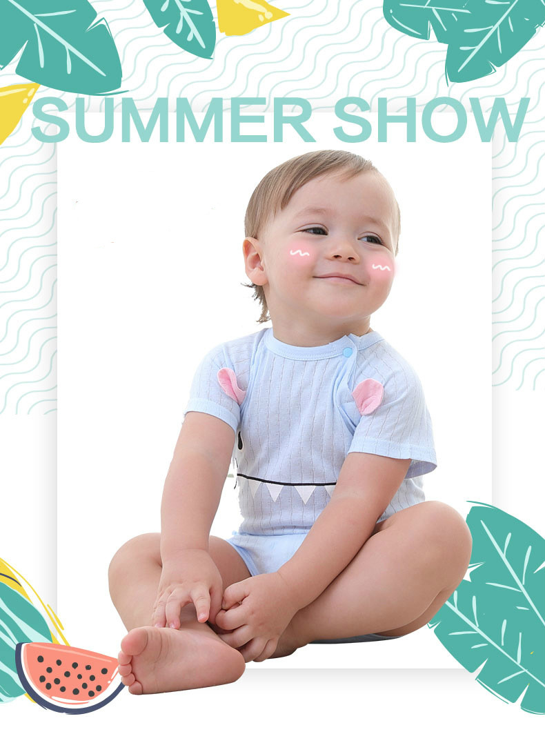 HTB1rmBUqDlYBeNjSszcq6zwhFXaf New Summer Baby Boys Romper Animal style Short Sleeve infant rompers Jumpsuit cotton Baby Rompers Newborn Clothes Kids clothing