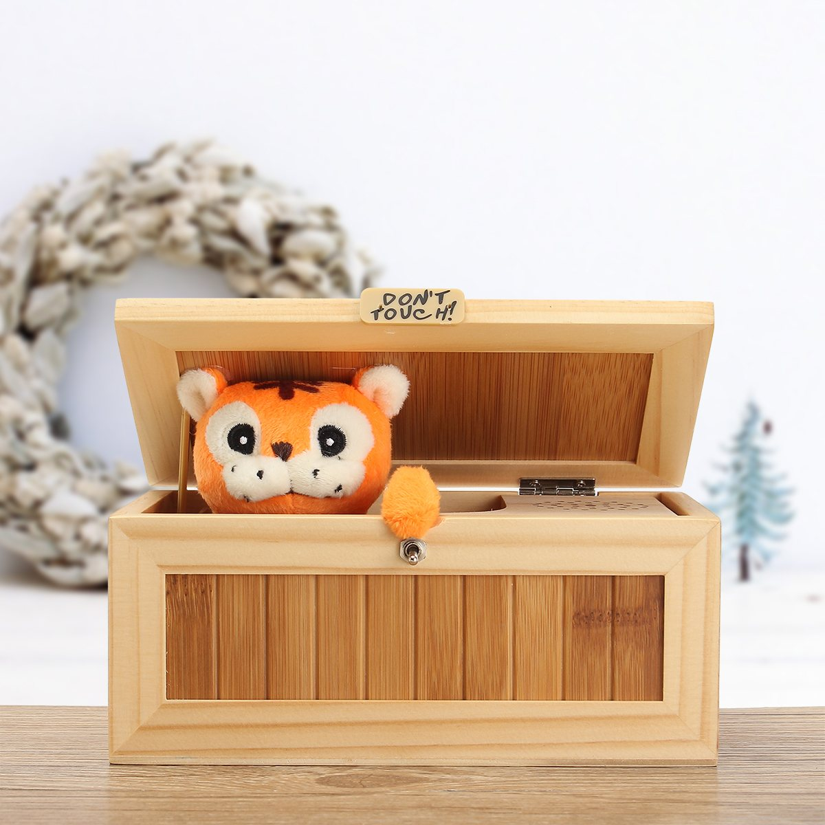 Wooden Useless Box Leave Me Alone Most Machine Don't Touch Tiger Toy Gifts Joke Toy Leave Me Alone Novel Box Funny Machine neje wooden useless fully assembled machine box toy brown 2 x aa