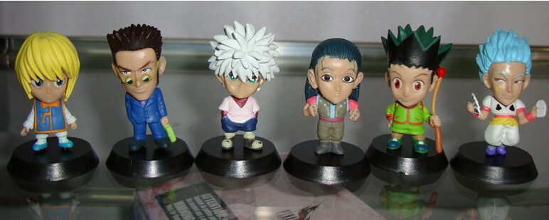 6pcs/set HUNTER X HUNTER Action Figures PVC brinquedos Collection Figures toys for christmas gift