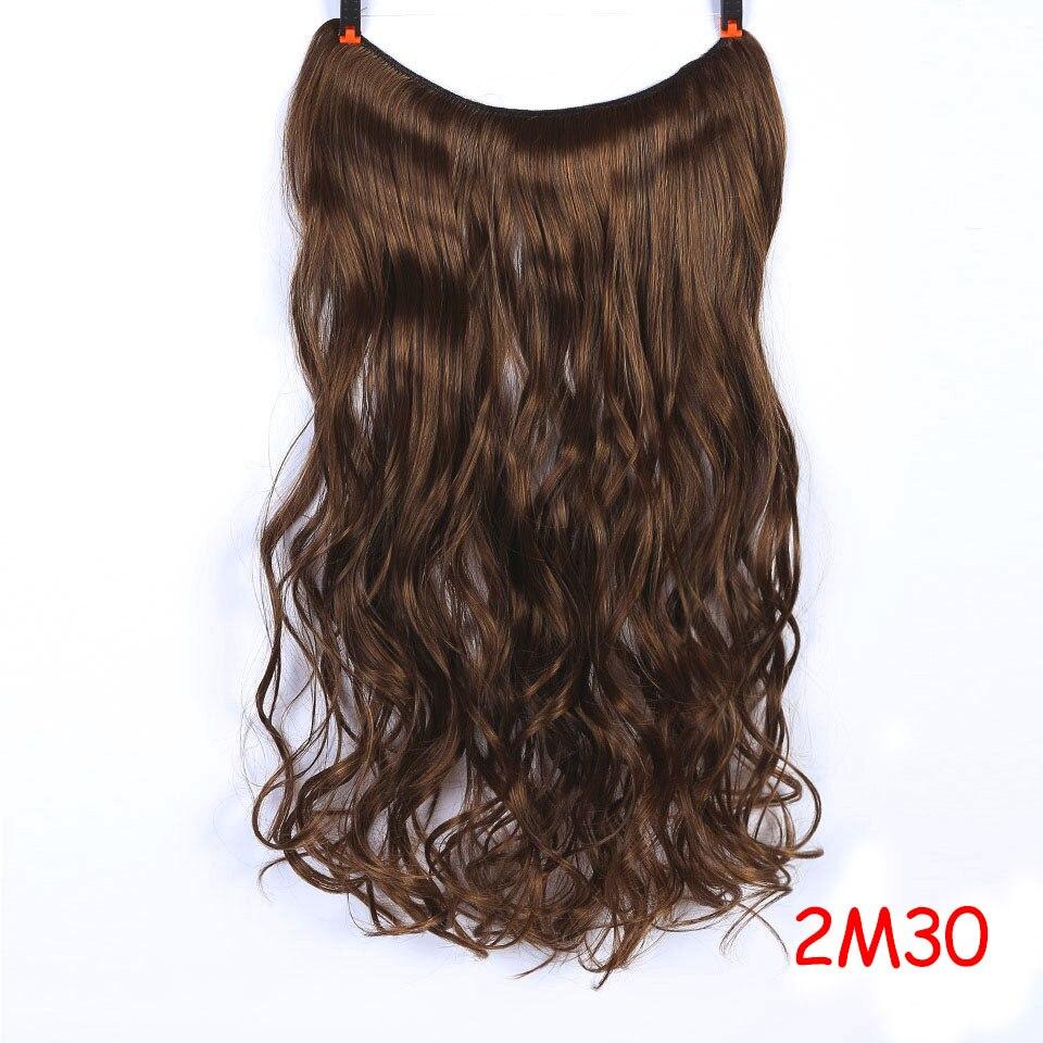 """SHANGKE 2"""" флип-на проволоке в синтетическом скрытом невидимом не клип в головном повязке прямые высокотемпературные волокна для наращивания волос - Цвет: #17"""