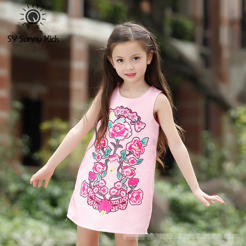 high quality 5 16 years old new 2015 children clothing girls dress ...