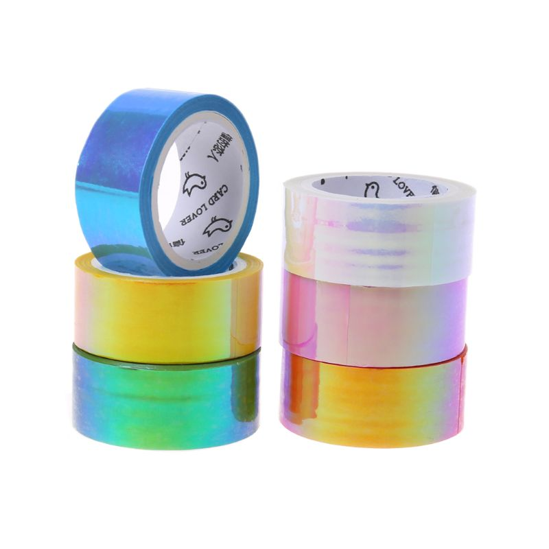 5m Rhythmic Gymnastics Decoration Holographic RG Prismatic Glitter Tape Hoops Stick