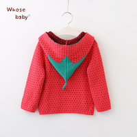 Autumn Girls Sweater Sweety Strawberry Outwear For Girls Knitted Soft Infant Clothing Long Sleeve Girls Pullover