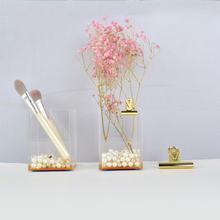 Акриловый прозрачный держатель для ручки коробка макияжа Прозрачный
