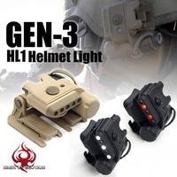 Night Evolution Airsoft Gen3 HL1 Helmet Light White Red IR Led Tactical Softair Hunting Flashlight NE05003