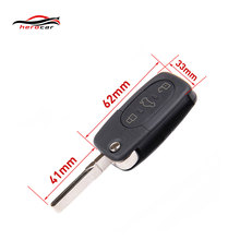 High Guality New For Audi A2 A3 A4 A6 A8 TT 3 Button Remote Key Covers Fob Case Shell & Blade HAA KEY-A-02