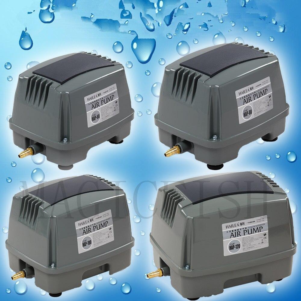 HAILEA pompe à Air d'étang HAP60 HAP80 HAP100 HAP120 pompe à oxygène d'étang à poissons haute puissance, pompe à Air 45W 60W 80W 90W