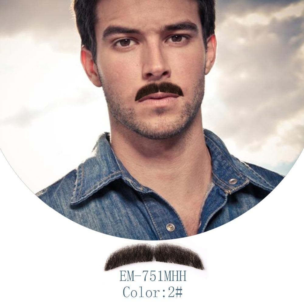 Neitsi 1Pcs Men's Mustache Handknoted 100% Human Hair Fake Beard EM-751MHH