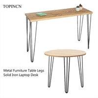 4 pçs ferro sólido mesa de metal perna 28/30 polegada mesa de café cadeira portátil hairpin pernas anti deslizamento diy móveis pernas Pés dos móveis     -