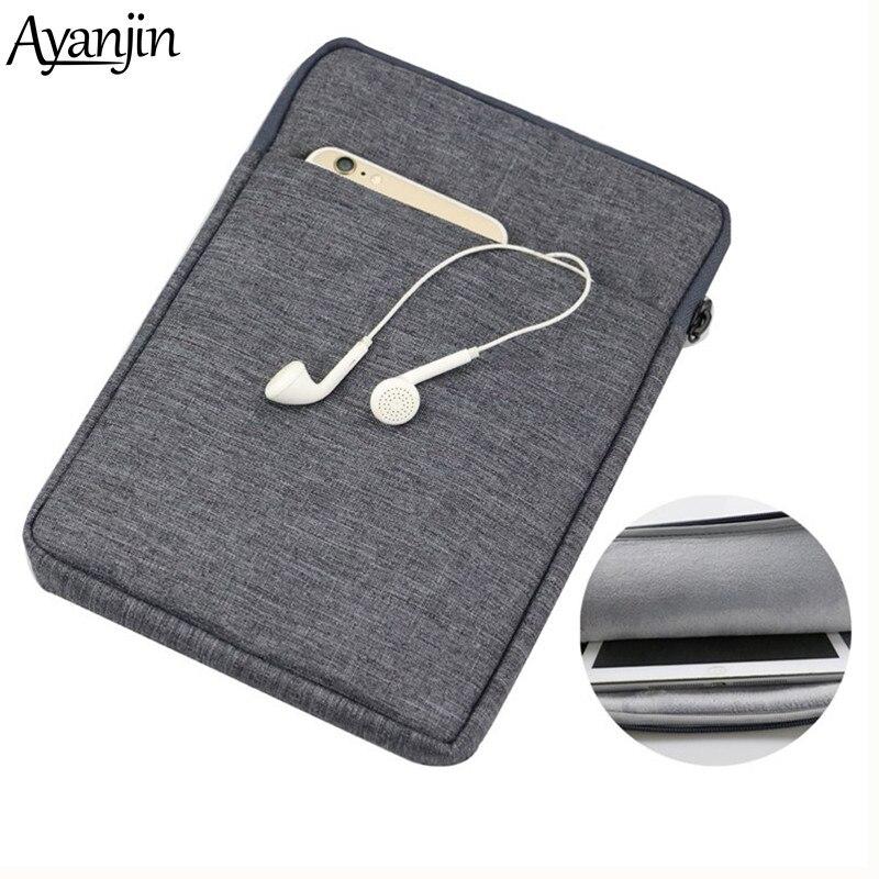 Хлопковый чехол на молнии для iPad mini 1 2 3 4 7,9 дюйма, чехол для планшета Samsung Huawei 7 дюймов, чехол для xiaomi mipad 12 3, сумка