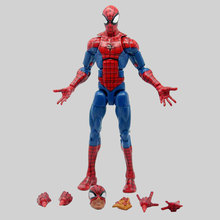 цена на 6 Spiderman Action Figure Toy Model Marvel Legends Super Hero Spider Man Infinite Series Toys for Christmas Children Gift