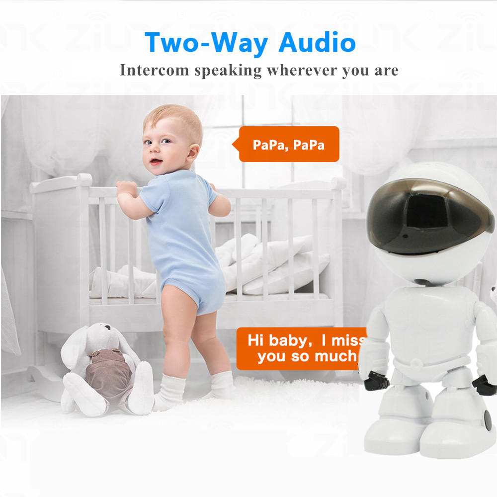 robot camera two way audio
