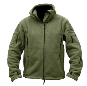 Image 3 - Military Man Fleece Tactical Softshell Jacket Polartec Thermal Polar Hooded Outerwear Coat Army Clothes