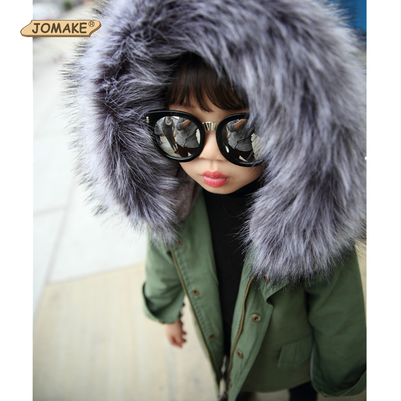 Children Jackets Winter Warm Coat Fur Collar Baby Kids Clothes Toddler Clothing Outerwear Infant Overcoat Boys And Girls Parkas 2017 winter baby coat kids warm cotton outerwear coats baby clothes infants children outdoors sleeping bag zl910