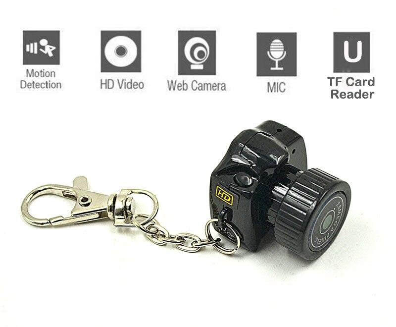 Mini Camera Sport Pet DV DVR Y2000 Camcorder with Motion Sensor Mic Video Voice Action Secret Security Nanny Car HD Micro Cam