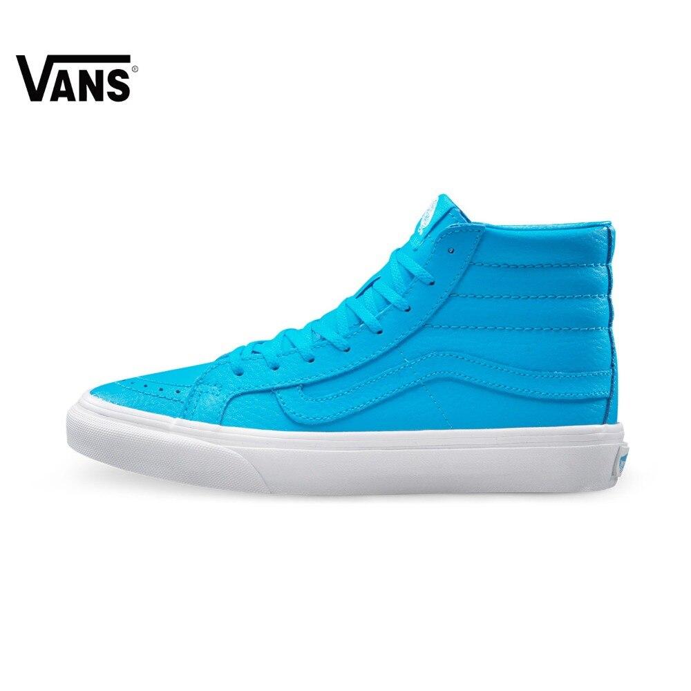 Original New Arrival Vans Women's Sk8-Hi Slim Skateboarding Shoes Sport Outdoor Sneakers Canvas Good Quality VN0A32R2MXQ/MW4