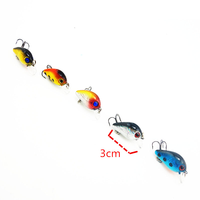 5Pcs 5g Kit Spinner Minnow/Popper Isca Fishing Lure Crank bait Baits Pesca Jia Head Fishing Hook Set In Fishing Tackle Box 006