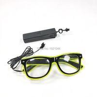 10 Kleuren Selecteren 5 stuks een pak Groothandel Product EL Wire Glowing Bril met Voice Controller voor Dance Party Decoratie