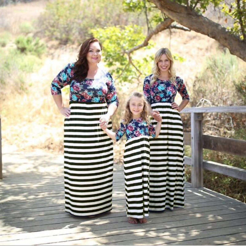 Mother Christmas Outfits Plus Size.Us 10 19 52 Off 2019 Mother Daughter Dresses Autumn Long Sleeve Dress Ukraine Maxi Dress Plus Size 6xl Vestidos Mom And Daughter Dress Christmas In