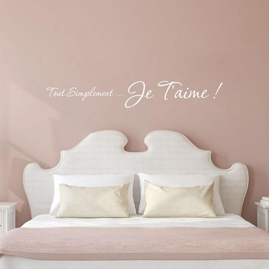 Samolepky na zeď s dekorací francouzské ložnice - Vyměnitelné - Dekorace interiéru