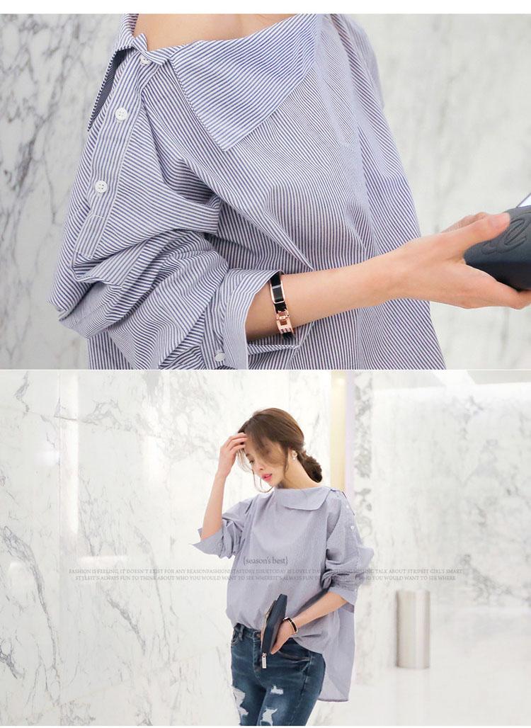 HTB1rmETPXXXXXbwaXXXq6xXFXXXw - Autumn Women's Striped Sexy Oblique Strapless Loose Long-sleeved
