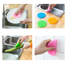 Silicone Dish 1Pcs Multifunction Bowl Magic Cleaning Brush Scouring Pad Pot Pan Wash Brushes Clean Kitchen Cleaner