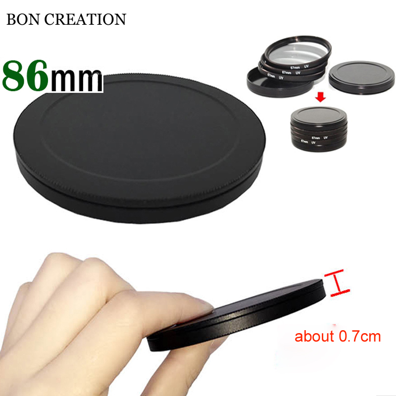 BON CREATION Good Quality Protect <font><b>Filter</b></font> Case <font><b>86mm</b></font> Screw-in <font><b>Filter</b></font> Stack Cap Set Metal <font><b>Filter</b></font> Case Cover image
