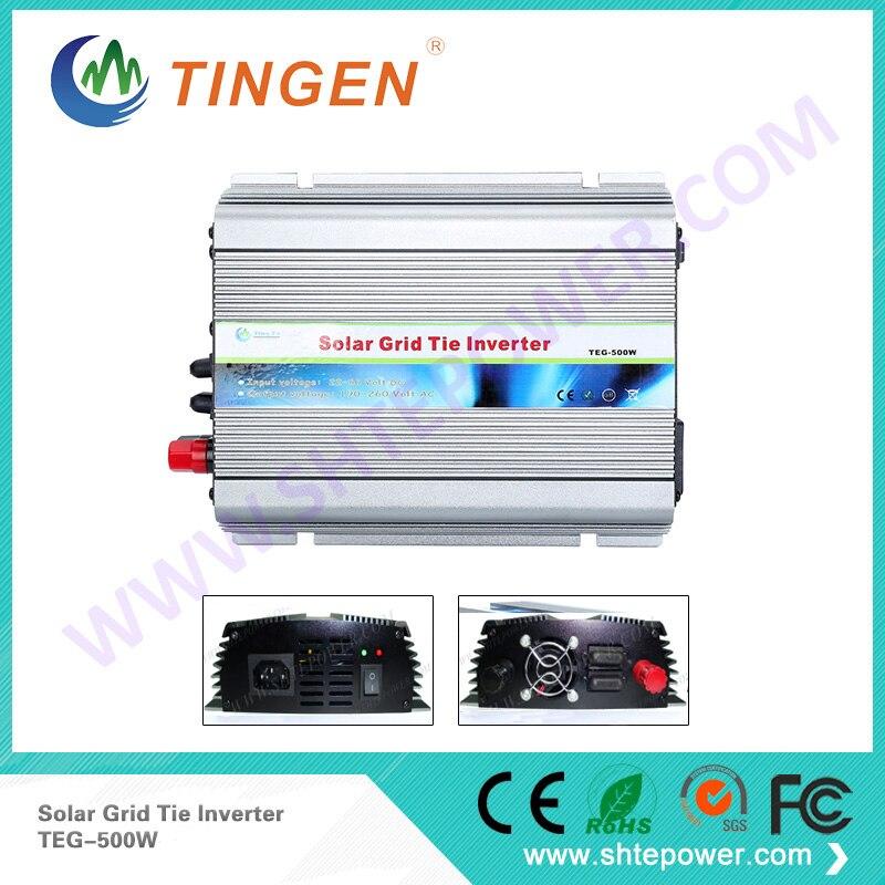 TEG-500W Solar grid tie inverter DC 24V input to AC 110V/220V output DC 12V/24V convert to AC output 190-260V EU socket