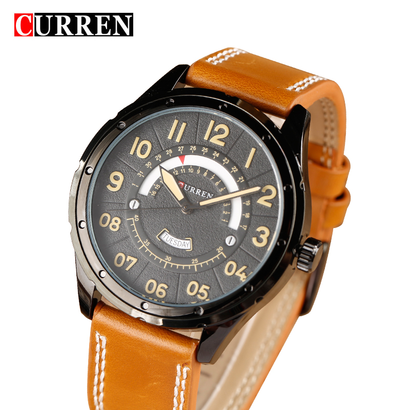 2017 CURREN Watches Fashion Casual Men Watch Sport Date Clock Male Military Quartz Wristwatch Leather Watch Relogio Masculino relogio masculino date mens fashion casual quartz watch curren men watches top brand luxury military sport male clock wristwatch