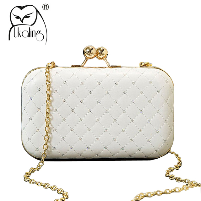 3244c37e501d UKQLING Minaudiere Box Evening Bag Women Day Clutches with Long Chain Shoulder  Crossbody Bags Small Phone Package Sac a Main