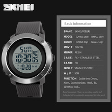Fashion Stainless Steel Case Dual Time Digital Watch Waterproof Outdoor Casual Sports Watches