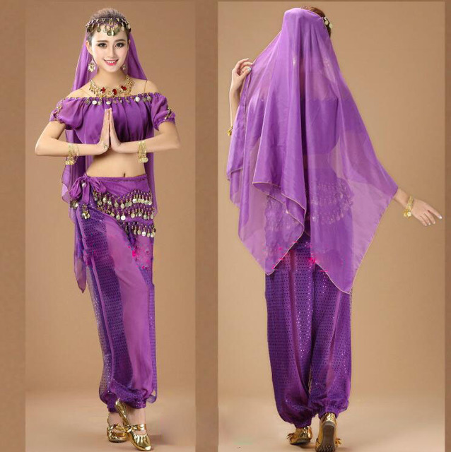 2016 New Lady Belly Dance Costume Bollywood Costume Indian Dress For  Performance Stage Wear Women Dance Dress 2/3/4/5/7 Pcs