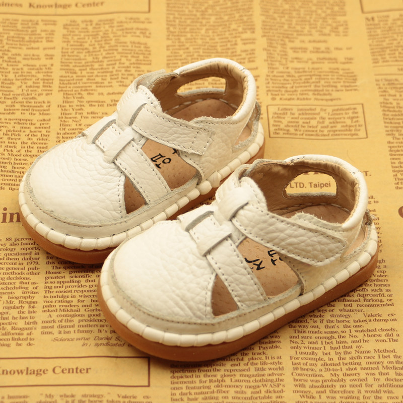 Summer New Baby Toddler Shoes Leather Baby Sandals Soft Bottom Boys And Girls Sandals Children Shoes Breathable 0-3 Years Shoes