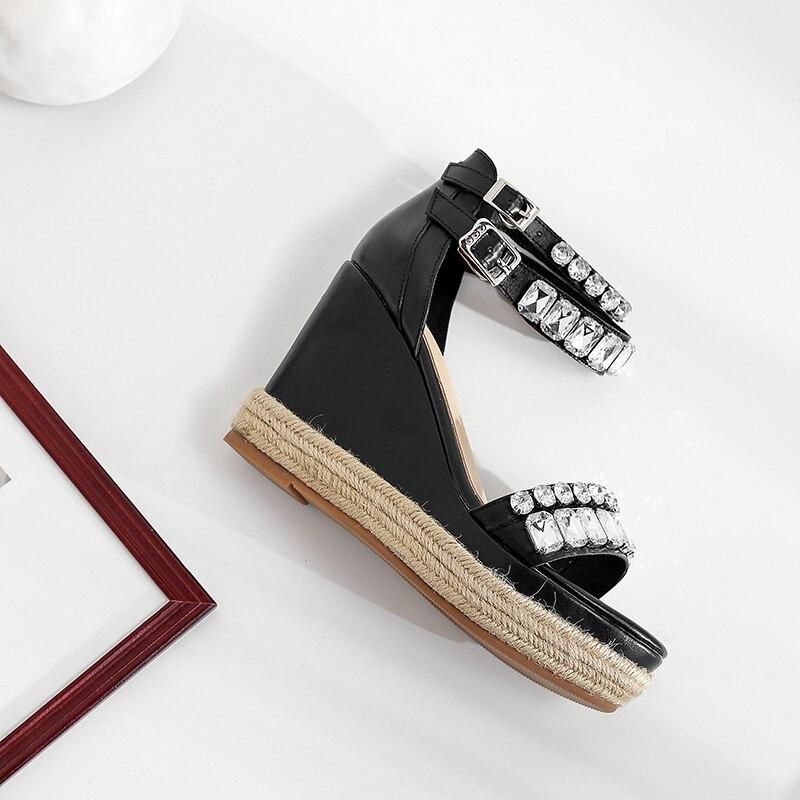 Peep Plataforma Sandalias Cuña Toe Chaussure Niñas Zapatos De Tacones Mujeres Mujer Negro Señoras Verano rosado Las Altos nq4w0gxT