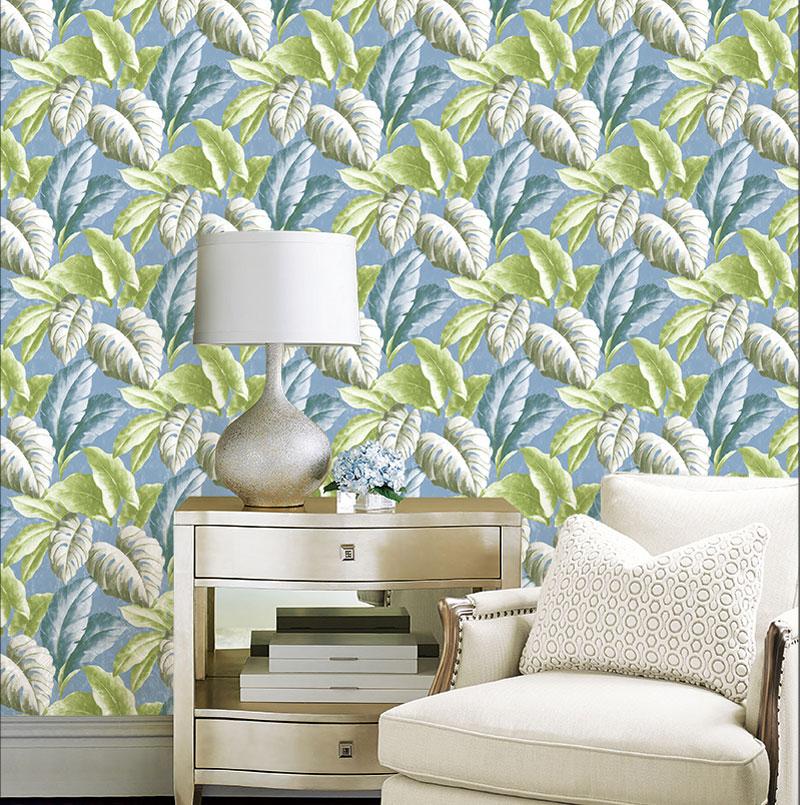 3D Modern Wallpapers Home Decor Green Leaf Wallpaper For