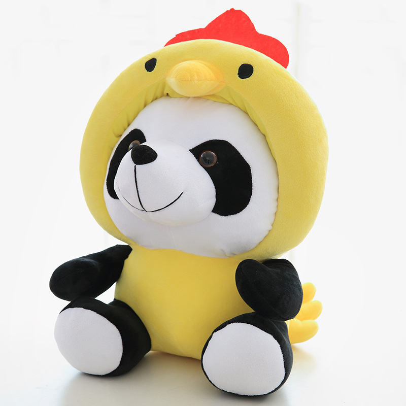 12 Chinese Zodiacs Cushion Pillow Year Of New  20 40cm Stuffed Toys Panda For Girls Soft Plush Chair Seat