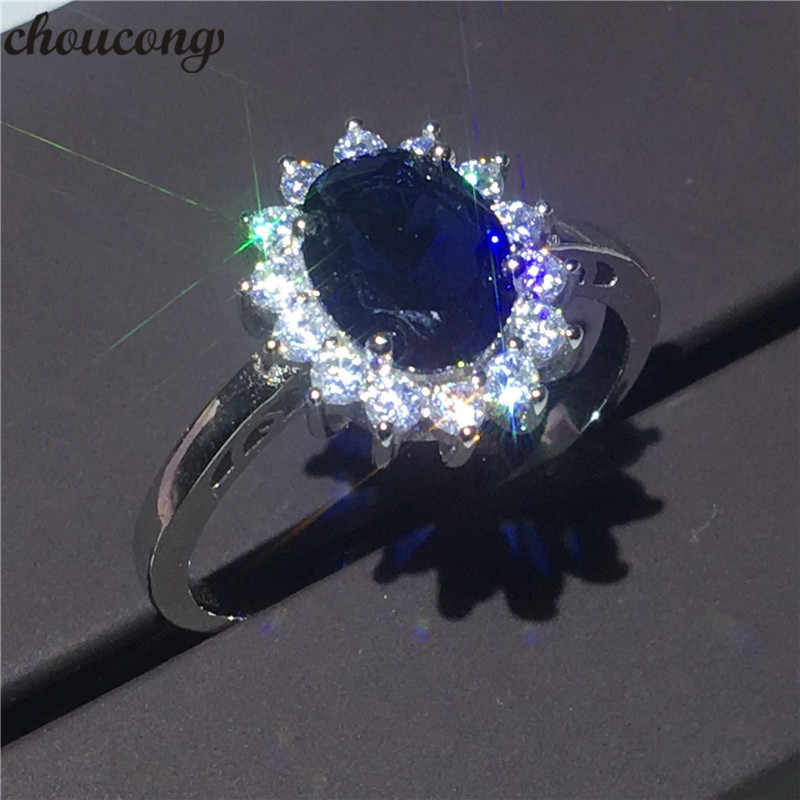 choucong Fine Jewelry Diana ring 2ct AAAAA Zircon 100% Real 925 sterling Silver Engagement Wedding Band Rings For Women Bijoux