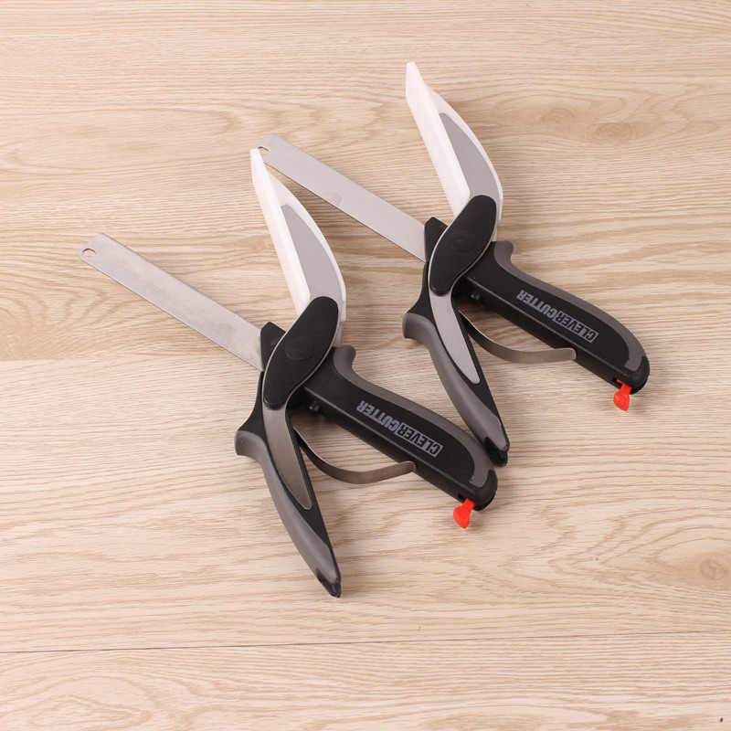 2017 Utility cutter knife stainless steel cutter Kitchen Accessories Clever Cutter Scissors Smart Chef knife Outdoor