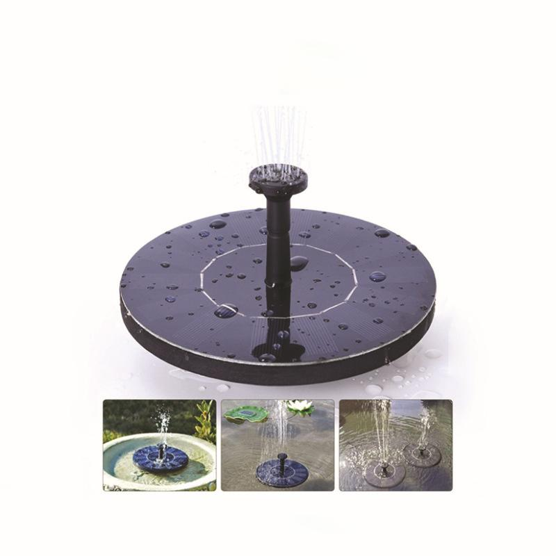 Solar Bird Bath Fountain Pump Outdoor Watering Submersible Pump Water Pumps With 1.4W Solar Panel For Garden Pool Pond Decor