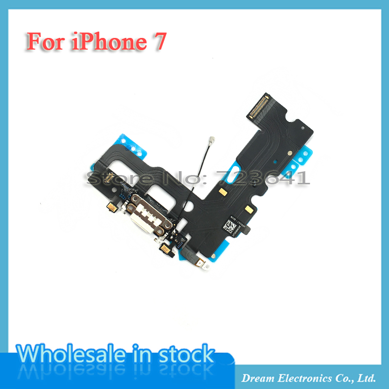 Image 3 - MXHOBIC 10pcs/lot USB Charging Charger Port Dock Connector Flex Cable For iPhone 7 7G Plus 7P Audio Microphone Replacementconnector flex cableflex cabledock connector -