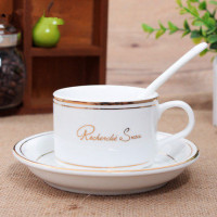 150ml Free Shipping Fashion Breakfast Coffee Cup Romantic Coffee Cup Set With Spoon Cups And Saucers