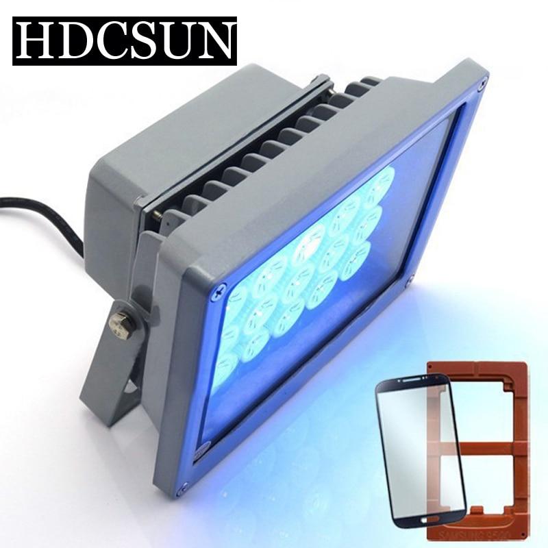 110V/220V Top grade UV curing lights Shadowless glue curing lights UV glue curing lights LED for phone scree uv glue dry ...