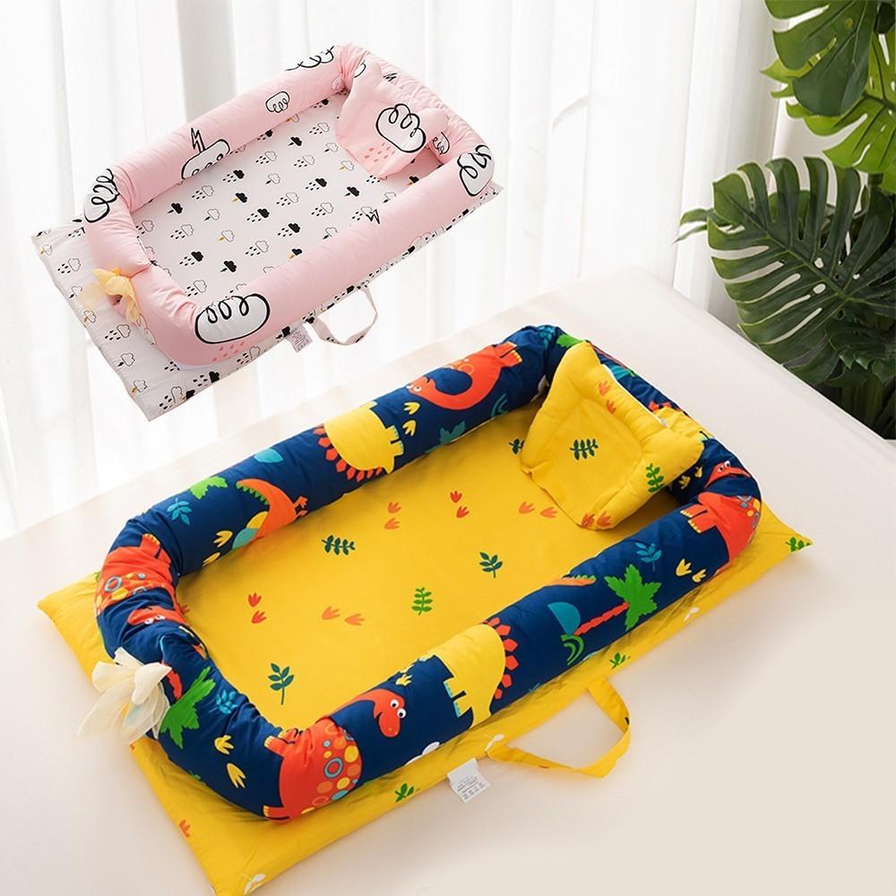 Portable nouveau-né bébé lit de voyage lit Anti-retournement oreiller coton bébé lit lit de voyage pour enfants infantile enfants façonnage oreiller