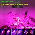 E27 15 W 21 W 27 W 36 W 45 W 54 W espectro completo luzes Led de crescimento plantas para hidroponia sistema crescer planta Led