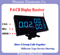 Visor do Receptor P-4-CB Mostrar 3 Grupo Número de Chamada Para O Restaurante Sistema de Chamada Sem Fio Usado para o Projeto de Lei Novo Design
