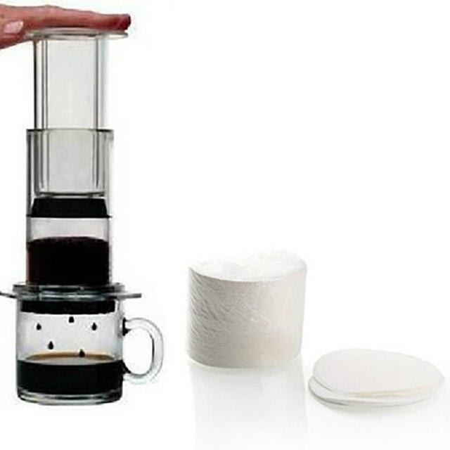 Gorąca sprzedaż 350 sztuk w opakowaniu ekspres do kawy wymiana profesjonalne filtry papier do Aeropress kawy i herbaty narzędzia narzędzia kuchenne