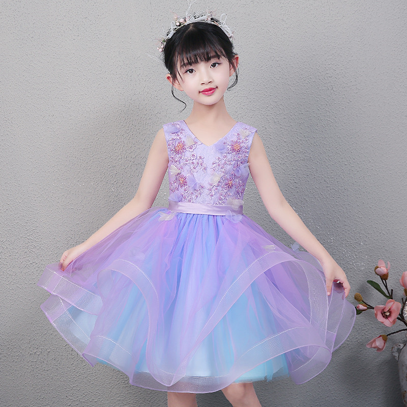 Summer New High Quality Baby Kids Birthday Wedding Party Princess Lace Short Dress Little Girl Toddler Evening Party Tutu Dress 2017 new high quality girls children white color princess dress kids baby birthday wedding party lace dress with bow knot design